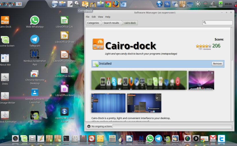 2016 – Linux Mint 18 1 Mate + Cairo Dock- My Perfect Desktop